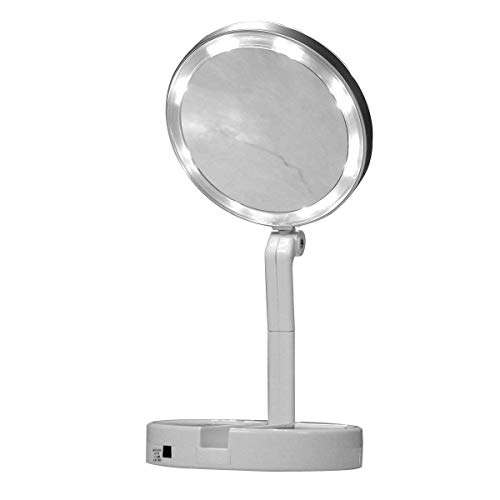 JML Finishing Touch Flawless Folding Mirror - The take-anywhere LED magnifying mirror