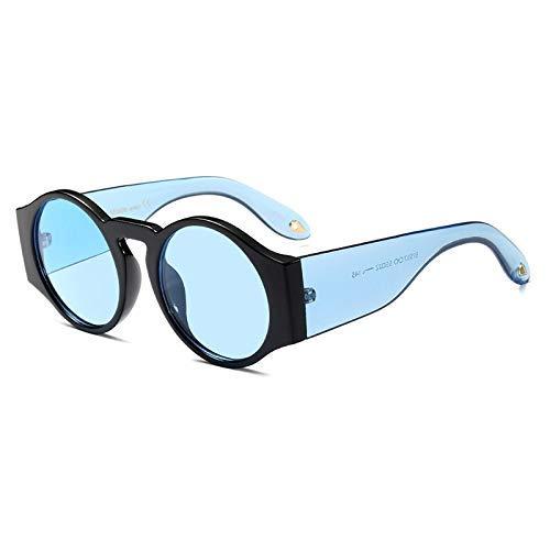Wghz Runde Dicke Sonnenbrille Frauen Kreis rot gelb transparent runde Sonnenbrille für Frauen Jahr Geschenk
