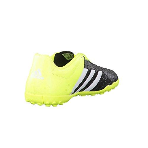 adidas Performance ACE15.4 TF Jungen Fußballschuhe Schwarz / Weiß / Gelb