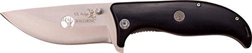 Elk Ridge ER-A156 Serie, Taschenmesser Design Griff SCHWARZ I, 10,16 cm Outdoormesser ROSTFREI Klinge für Angeln/ Camping, leichtes 222gr  Klappmesser