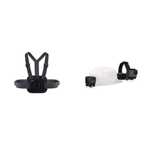 Chesty V2 - Performance Brustgurthalterung (GoPro offizielles Zubehör) & GoPro Kopfband Plus Quick-Clip (geeignet für alle GoPro Kameras)