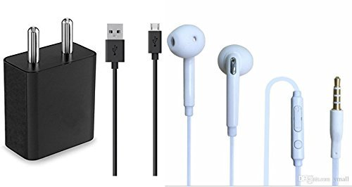 Xiaomi Redmi Note 4 64GB COMPATIBLE Combo of Wired Headphone/Earphone (white) with charger and data cable for all Smartphones by mobimint 31tTawZgxwL