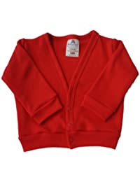 BabywearUK Red Baby Cardigan - 3/6months - British made