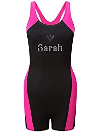 19e2ccf5c9325 Varsany Legsuit Personalised Girls Swimming Costume one Piece Kids Swimsuit  Bathing Suit Swimwear Childrens