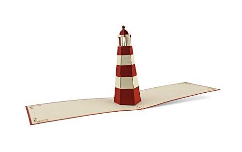 Maritimes Leuchtturm 3D Pop-Up Karte   Geburtstag   Meer   Reise   Urlaub   Gutschein   Grußkarte mit Umschlag B07 ()