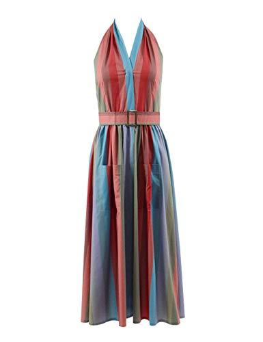 Kostüm Weissman - Zhangjianwangluokeji Frau Maisel Long Rainbow Kleid für Frauen (L, Farbe 1)