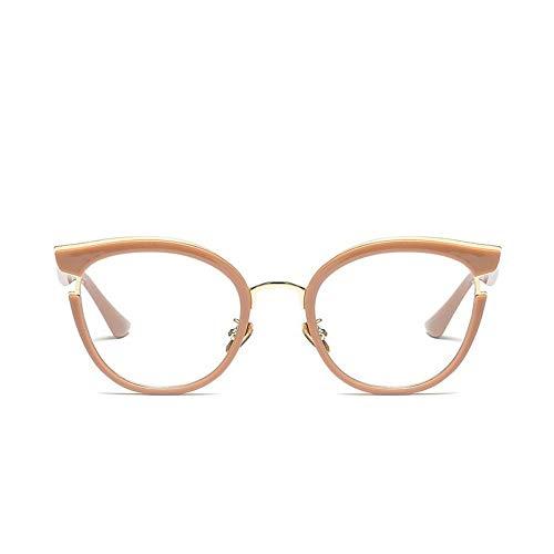 MoHHoM Sonnenbrille Fashion Cat Eye Lesen Brillen Optische Gläser Frames Neue Vintage Brille Frauen Brand Design, Klare Gläser Gläser Uv 400 Khaki Löschen