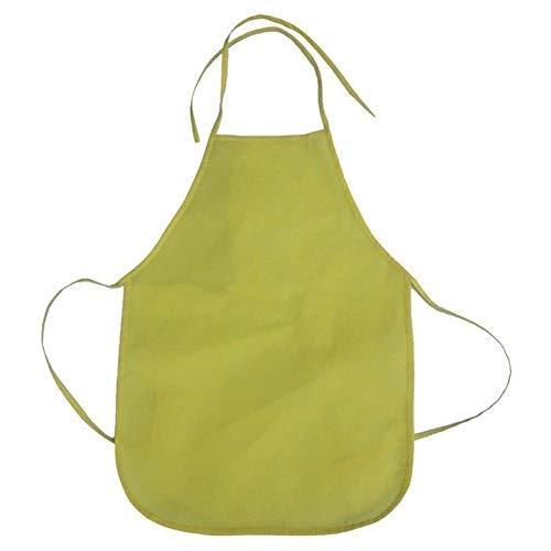 Neue Kind Schürze Junior Chef Kochen Küche Schule Kind Kinder Nette Kostüm Küche Reinigung Schürze Malerei Schürze Kunst Lätzchen (Color : Yellow) (Yellow King Kostüm)