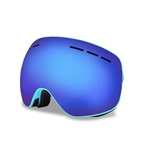 Skibrille Anti Uv für Magnet Snow Goggles Über Brillenglas für Schneesport Snowboard Winter - Blau (Snocross-schutzbrillen, Klare Linse)