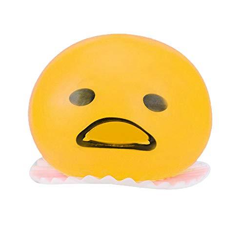 Finebuying 4 Stück Eigelb-Druck-Ball Kotzen mit Gelber Goop Entlasten Sie Stress Spielzeug Spucken Eigelb Spielzeug Puking Egg Yolk Stress Ball Schleimfresser Spielzeug (Gelb) (Stress-ball)