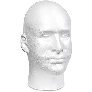 Floracraft Styropor männlich Kopf bulk, 15.8 x 22.3 x 26.1 cm , mehrfarbig