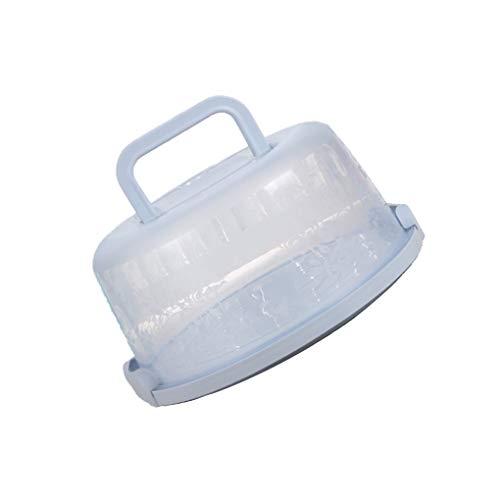 Zerama Kunststoff-Runde Tortenschachtel-Tragegriff Pastry-Speicher-Halter Dessert Container Abdeckungs-Fall-Kuchen-Zubehör Dessert-container