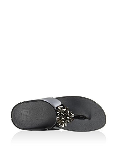 FitFlop Womens Blossom 2 Synthetic Sandals Noir