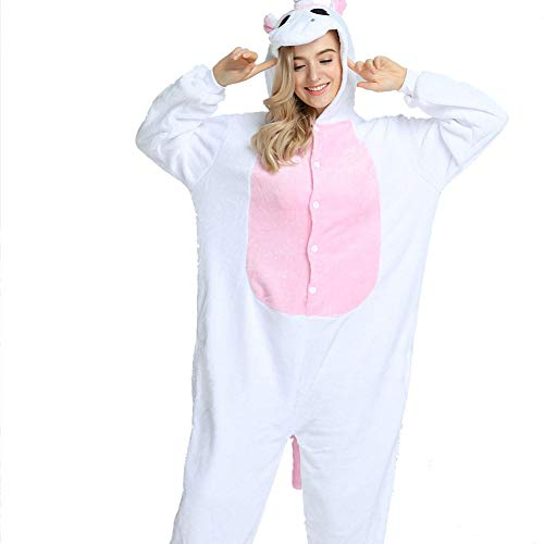 hsene Plüsch One Piece Pyjamas Einhorn Overall Anime Cosplay,Pink,M ()