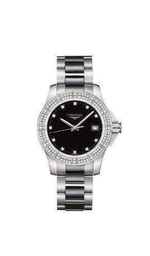 Longines Conquest Quartz Diamant Marqueurs Diamant en céramique et acier inoxydable Montre pour Femmes