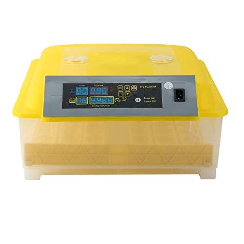 Tatayang Vollautomatisch Brutmaschine, 24 Eier Inkubator Brutautomat mit LED Temperaturanzeige Flächenbrüter Brüter Inkubator, Geflügel Inkubator, Geflügel Hatcher (48 Eier 1)