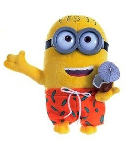 Minion Swimsuit and Cocktail of Coco Plush - Despicable Me - 27cm 10""