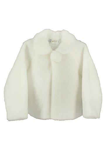 Boutique-Magique Jacke Baby und Mädchen Kunstfell weiß oder elfenbeinfarben-Produkt Gespeichert und verschickt Schnell seit Frankreich, Elfenbein