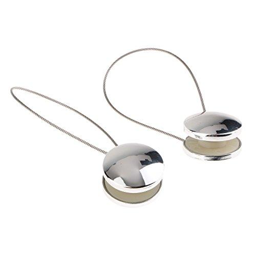 D DOLITY Magnetica Tenda Tieback Buckle Clip Fermatende Calamite Accessori per Tendaggi, Tendine, Tende di Garza - Argento, come descritto