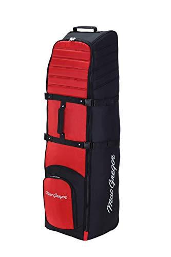 MacGregor VIP II Deluxe Golf-Reisetasche mit Polsterung und Schutz, Unisex, MACTC004, schwarz/rot, Einheitsgröße