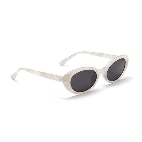 CHJKMN retro oval sonnenbrille frauen kleine sommeraccessoires rosa weiß schwarz oval sonnenbrille für männer retro uv400