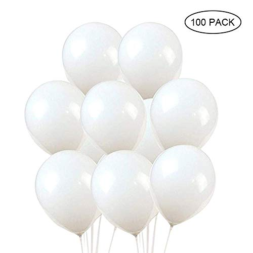 KOBWA LED Light up Balloons,12 inch White Latex LED Balloons, 20/50/100 Pack, LED Balloons for Party Decoration,Wedding,Christmas,Halloween,Birthday Party Supplies (Light Up Halloween Ballons)