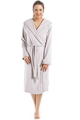 Camille - Robe de Chambre Longueur Genoux pour Femme - Velours Doux 36/38