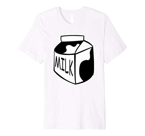 Funny Last Minute Halloween Kostüm Milch T-Shirt Big ()