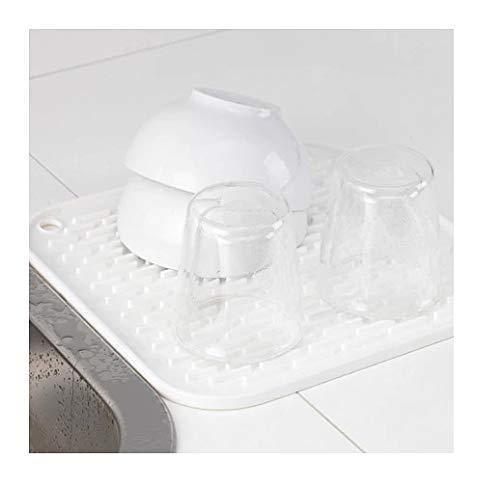 Ikea Barsele Égouttoir à vaisselle en silicone Blanc