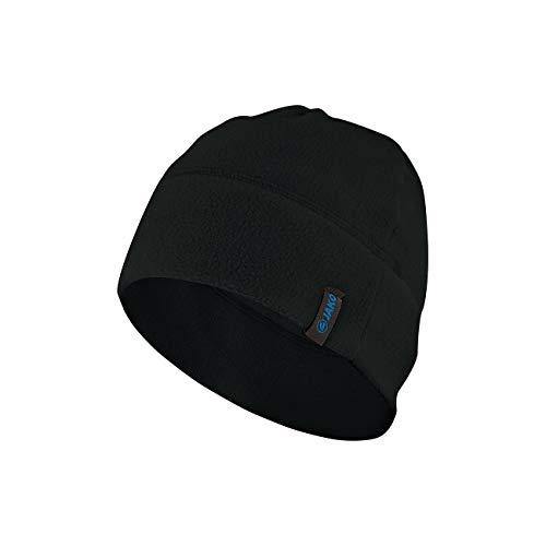 JAKO Fleece Mütze, schwarz, One Size (02) Fleece Beanie