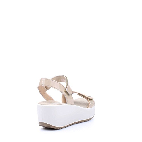 IGI&Co 7821100 Sandalo Zeppa Donna Platino/beige