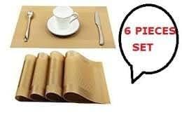 Bridge2Shopping Dining Table Kitchen Place Mats - 45 X 30 Cm - 6 Pieces- 1 Set