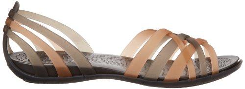 Crocs Huarache Flat Women, Ballerine Donna Oro (Bronze/Espresso)