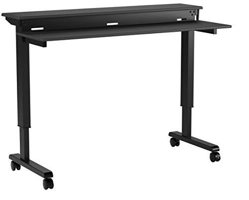 Stand Up Desk Store Höhenverstellbarer Schreibtisch - Zwei-Klassen- (Schwarz / Schwarz,...
