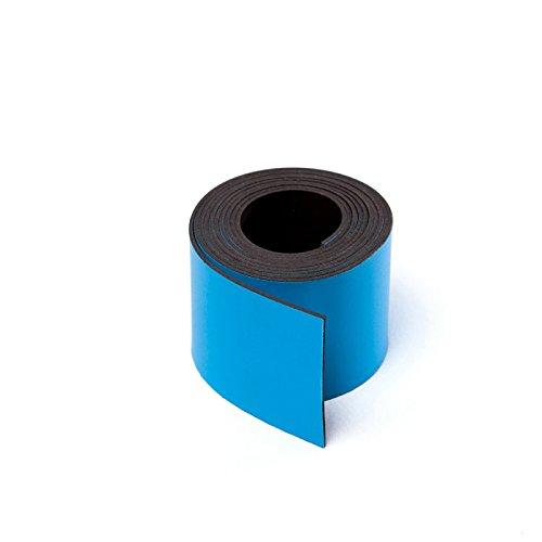 MTS Magnete Magnetisches Band für Schilder, zum Zuschneiden, 30mm breit blau Mts Fällen