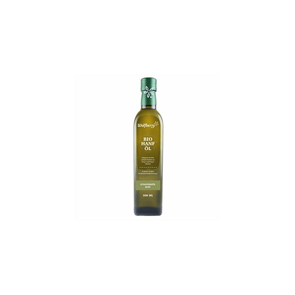 Wolfberry Hanfl Bio Raw Premium Kaltgepresst Hanfl 500ml