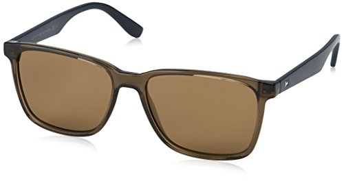 Tommy hilfiger th 1486/s 70 4c3 55, occhiali da sole uomo, verde (olive/brown)