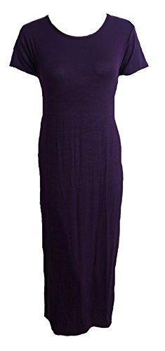 Girl pour femme Style Bodycon à mancherons en aluminium Argenté fente Desire Clothing Robe avec côté fendu Noir - Violet