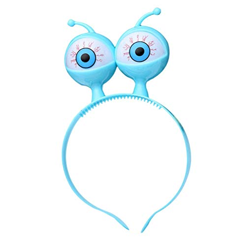 (Upstudio Persönlichkeit Urlaub Halloween Stirnband Flash Augapfel Hoop Party Ball Kopfbedeckungen Haarspange mit großen Augen LED Stirnband (zufällige Farbe) Party bevorzugt Dekorationen)