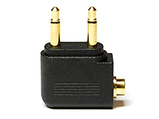 WEWOM Audio Flugzeugadapter für Kopfhörer 2X 3,5mm Mono Klinke auf 3,5mm Stereo Buchse Vergoldet (B00GR4YX88) | Amazon price tracker / tracking, Amazon price history charts, Amazon price watches, Amazon price drop alerts