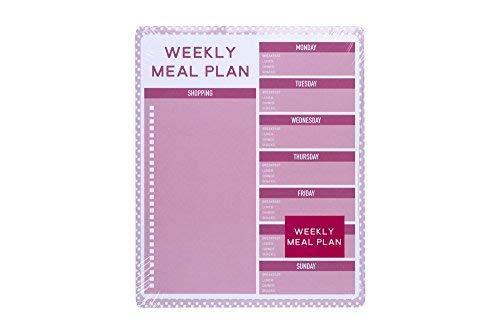 Tri-Coastal Design - Planner Settimanale Colorato con Calendario Perpetuo Settimanale da Scrivania o da Tavolo - Spazi per Segnare i Pasti, la Lista della Spesa, Memo e la tua Dieta
