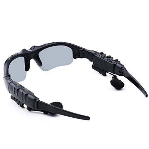 CCSHW Smart Stereo Bluetooth Sonnenbrille MP3 Musik Kopfhörer 3D Polarisierte Brille Multifunktions Auto Außenreit Call Listening Songs,Gray (Brille, Bluetooth Mp3)