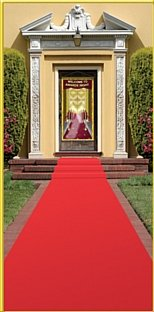 Red Carpet Runner 15ft by Partyrama
