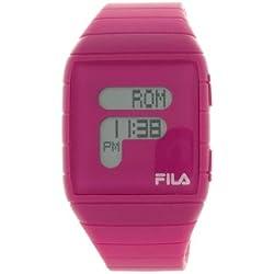 Fila Unisex LCD Watch FL38015003 with Black PU Strap