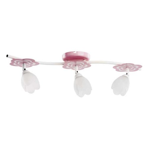 ALFA MARIA Pink/Rosa 3 Deckenleuchte Deckenlampe Kronleuchter Kinderzimmerleuchte Kinderzimmerlampe -