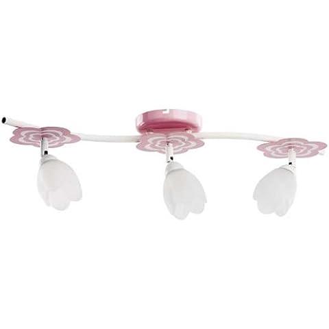ALFA MARIA Pink 3 Lampara infantil Lampara de techo colgante Lampara de arana (E14, 40W)