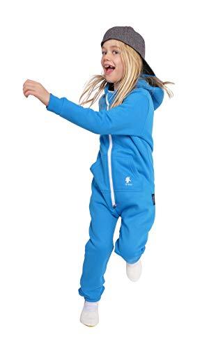 O'Poppy Kinder Jumpsuit einteilig (146-152, blau) - Fleece Pyjama-hosen