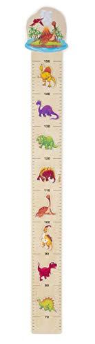 Misuratore metro in legno della crescita altezza bambini dinosauri