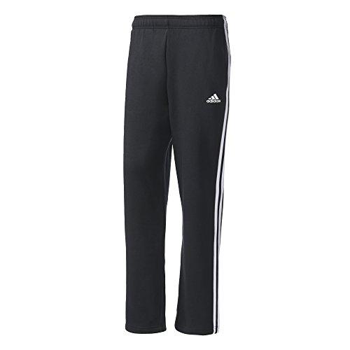 adidas Herren Essentials 3-Streifen Fleece Hose, Black/White, S