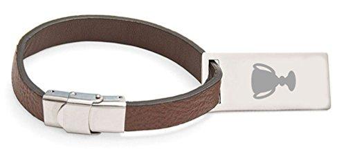 Trophäe eingraviert Personalisierter Kofferanhänger aus Leder ()